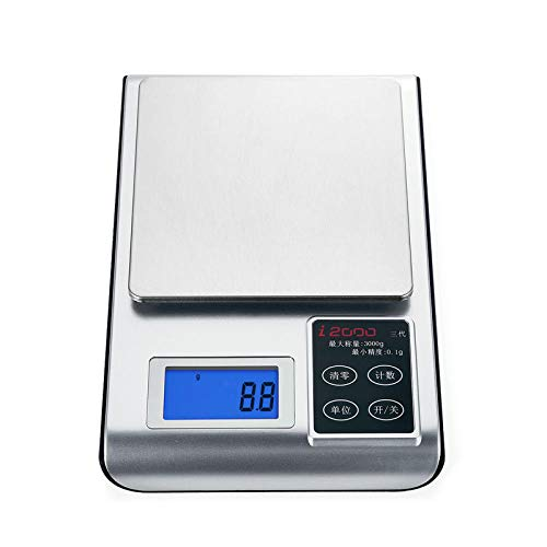 Keukenweegschaal Plug-In Mini Precisie Elektronische Weegschaal Thee Thee Gram Weegschaal 0.01G Sieraden 0.1-5000G 1G