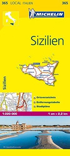 Michelin Sizilien: Straßen- und Tourismuskarte 1:200.000 (MICHELIN Localkarten, Band 365)