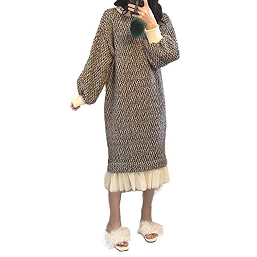 Hopereo Sweter sukienka damska jesień 2019 zima duży rozmiar 4XL luźne sukienki kawaii Vestido koreański styl odzież z długim rękawem