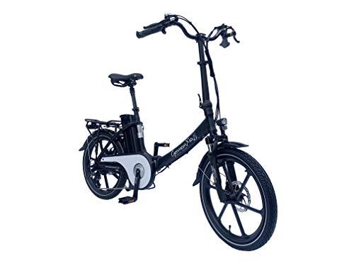 GermanXia® E-Bike Faltrad Mobilemaster E-Klapprad Touring CH-15,6 7G Shimano 20 Zoll mit Gasdrehgriff, eTurbo 250 Watt HR-Antrieb, bis zu 140 km Reichweite