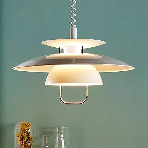 Lindby LED Pendelleuchte \'Nadija\' (Modern) in Weiß aus Metall u.a. für Küche (1 flammig, E27, A+, inkl. Leuchtmittel) - Hängeleuchte, Esstischlampe, Hängelampe, Hängeleuchte, Küchenleuchte