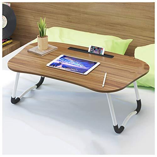 Table Pliante Lit Pliant lit d'ordinateur Portable Bureau-Home College dortoir étudiant (Color : Brown)