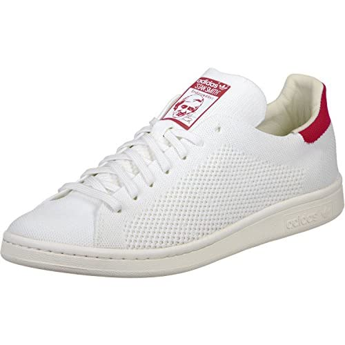 Adidas Originals Stan Smith OG Prime Knit Sneakers da uomo, bianco e rosso