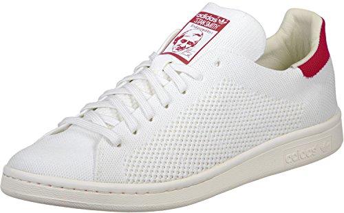 adidas Originals Herren Stan Smith OG Prime Knit Sneakers Schuhe -weiß Rot