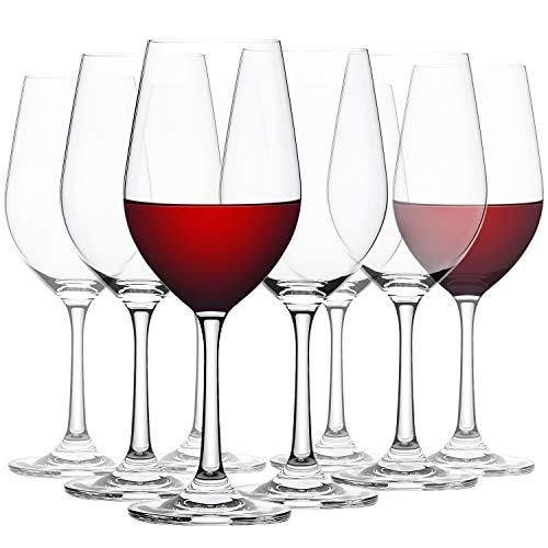 CREST Copas de Vino Tinto, 480 ml, Vaso de Cristal, 8 Unidades