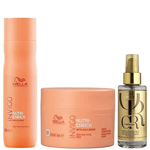Shampoo e Mascara Wella Enrich + Wella Oil Reflections Luminous