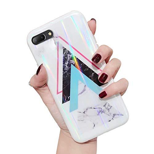 Oihxse Cover Compatibile per [iPhone 6s + 6+] Custodia,Fashion Gradient Aurora Laser Cover 6s Plus 6 Plus Trasparente,Morbida Silicone Gel TPU Custodie Protettivo Case Cover con Motivo Carino (A11)