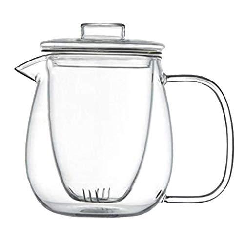 non_brand Tetera de Vidrio Transparente con Colador de Té Extraíble - tal como se describe, 550ml