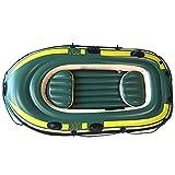 NEHARO Kayaks Barco Inflable de la Pesca del Barco Inflable multijugador al Aire Libre CLORURO DE POLIVINILO Diseño Engrosado en Kayak para la Playa (Color : Green, Tamaño : 230x130 cm)