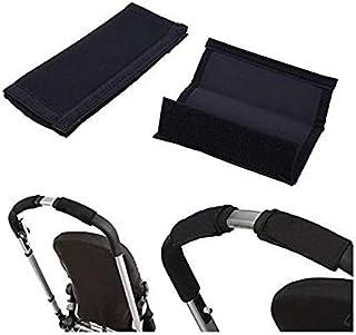 Baby Pram Stroller Pushchair Handle Girp Cover 2pcs, Black