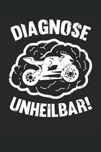Lustiges Motorrad Fahrer Notizbuch (liniert) Biker