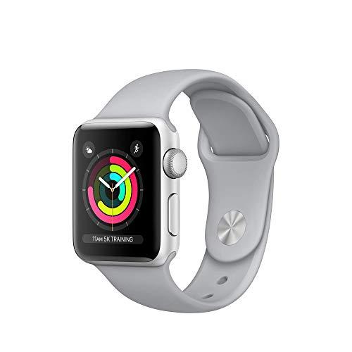 Apple Watch Series 3 38mm (GPS) - Silver Aluminium Case with Fog Sport Band (Renewed)