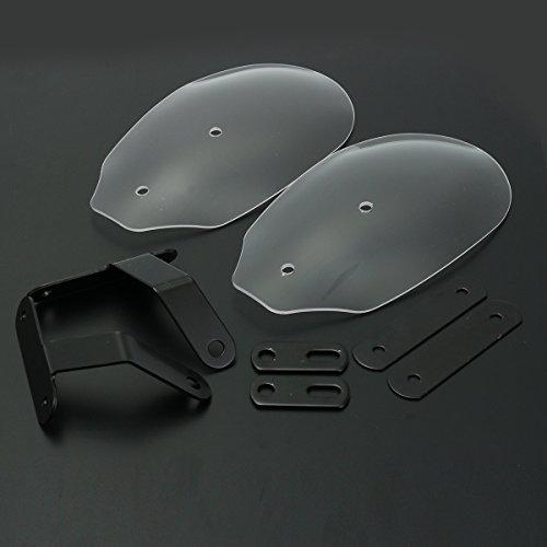 Alamor Guardamanos De La Motocicleta Manoplas del Manillar Protecter para Harley XL 883 1200 Dyna Road King-Transparente