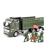 Decoración del hogar Aleación Tire hacia atrás Transportador Coche de misiles Lanzacohetes Carro Modelo de simulación Niño Niños Modelo de automóvil de juguete Escala: 1:32 / verde Niños pasatiempo