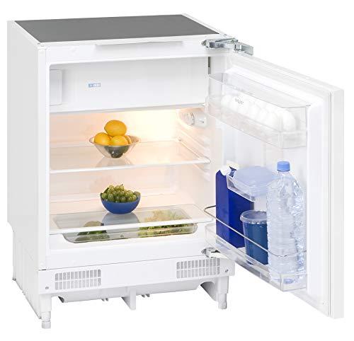 Exquisit Unterbaukühlschrank UKS 130-1.2 A+ | Unterbaubaugerät 116 L Nutzinhalt | weiß