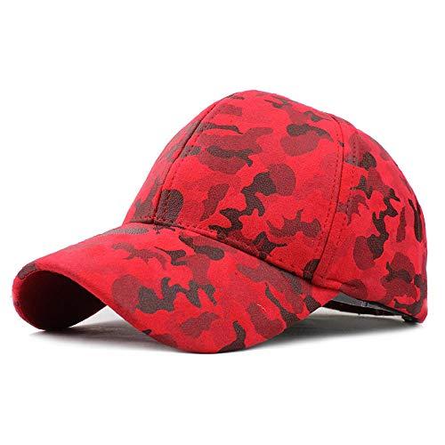 YDXC Gorra de béisbol para Hombres y Mujeres Sombrero de Camuflaje Hombre Gorra Ajustable Militar Aplicar para Correr Pesca, etc.-F224_Camouflage_Red_Adjustable