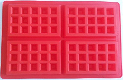 Molde de silicona para gofres, color rojo