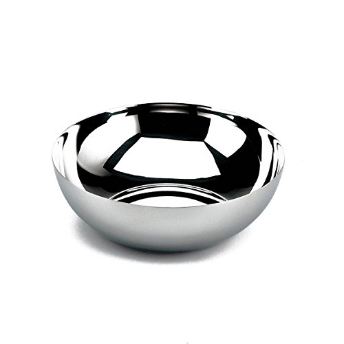 Alessi Bauhaus Schale, tief aus Edelstahl glänzend poliert 19,0cm, 11.5 x 20 x 24.5 cm