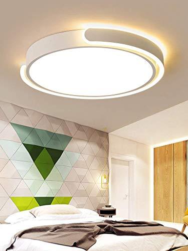 HHZ Modern LED-Deckenlampe Runde Modern Deckenleuchte Weis Burolampe Disign Minimalistisch aus Metall und Acryl fur Buro Esszimmer Wohnzimmer Schlafzimmer Terasse Kaltweis 40W 038 * 5CM 2800LM
