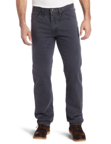 Lee Herren Regular Fit Straight Leg Jeans Thunder Char 8937 Schwarz 33/32