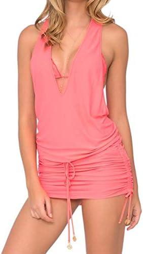 Luli Fama Cosita Buena - T Back Mini Dress-DCC - M/Fire Coral
