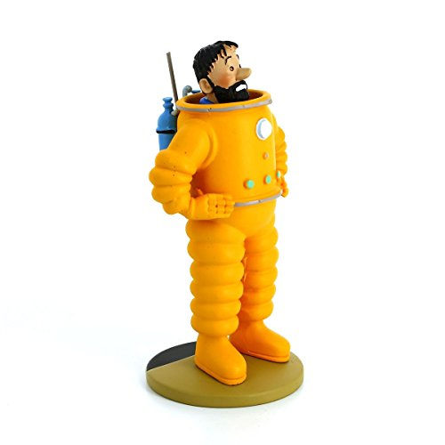 TIM UND STRUPPI Collector Figur in Window-Box - Tintin Figurines Résine - Haddock als Astronaut (Haddock the Astronaut)