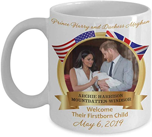 LETE You will always be my best gift Baby Archie Prince Harry Meghan Markle Royal Birth Commemorative Coffee Mug Gift