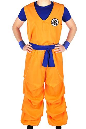 CoolChange 3-teiliges Kostüm von Son Goku beim Herr der Schildkröten | Größe: L