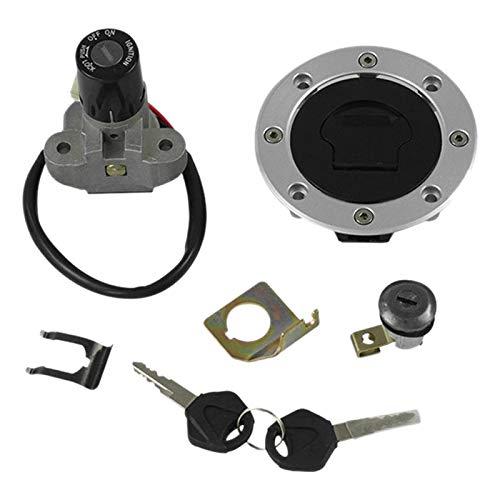 Huante - Cerradura de juego de interruptor de encendido de moto, cerradura de tapón de depósito de combustible adecuado para GSXR1000 SV650 TL1000R GSF1200 GS500 RGV250