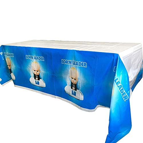 4 Packs Boss Baby Table Cover -70 x 42 inches,Disposable Boss Baby Tablecloths for Baby Themed Birthday Party Decorations Supplies and Baby Shower