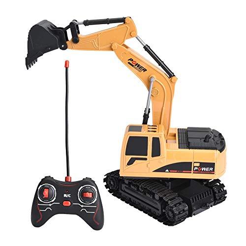 RC Auto kaufen Baufahrzeug Bild: Dilwe Fernbedienung Bagger, 6 Kanäle Bagger LKW 1/24 RC Engineering Baufahrzeug Spielzeug Geschenk für Kinder ( Kunststoff)*