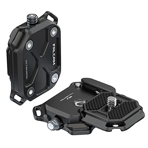 FALCAM F38 Kamera Schnellwechselplatte, Quick Release Platte mit Lanyard-Loch, Arca Swiss Schnellwechselplatte mit 1/4