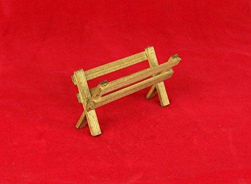 Krippenbau-Lewen Futterkrippe aus Holz, für Weihnachtskrippe 5x10 cm, braun gebeizt.