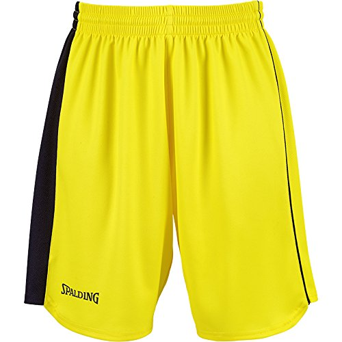 Spalding - Pantaloncini da Donna Teamsport, Giallo (Giallo/Nero), XS