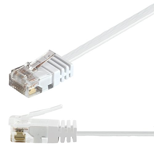 Ligawo 1014101.0 Patchkabel Netzwerkkabel Cat5e Slim Gigabit tauglich mit RJ45 Stecker (1m) weiß