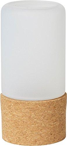 Duni Duni Kerzenhalter für LED und Teelichte 140 x 70 mm Hope, frosted Glas mit Fuß aus Kork 1 Stück