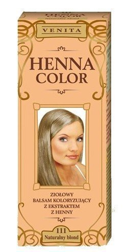 Henna Color 111 natuurlijke blond haarbalsem haarkleur kleureffect natuurhaarkleurmiddel henne eco