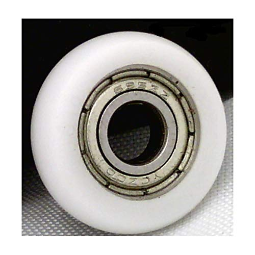 VXB Brand 6mm Bore Bearing with 32mm White Plastic Tire 6x32x11mm Type: Tire Combined with a Steel Ball Bearings Standard: Metric Size: 6mm x 32mm x 11mm