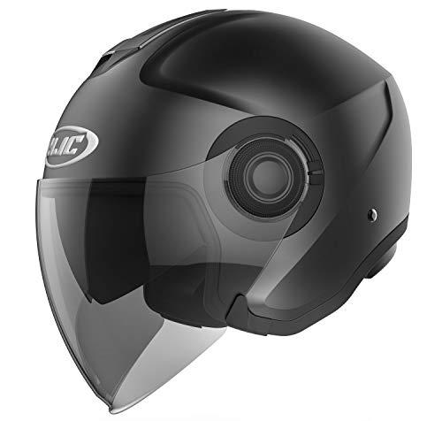 HJC Helmets Motorradhelm i40 SEMI MAT Schwarz/SEMI FLAT BLACK, Schwarz, L, 16877009