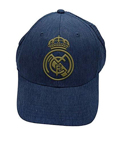 Real Madrid FC RM3GO20P Kappe aus Stahl mit verstellbarem Gitter, Real Madrid-Jeans-/Gold-2019-2020, Unisex, Blau/Gold, Kinder