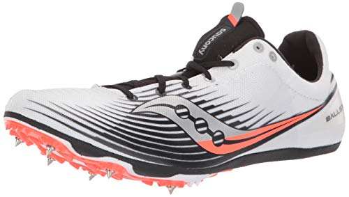 Saucony Men#039s Ballista MD Track Shoe White/Black 13 M US