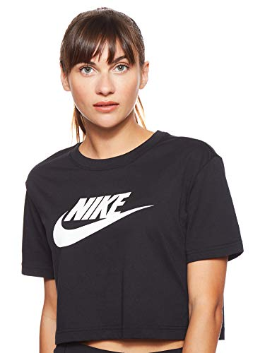 Nike Damen Kurz-T-Shirt Sportswear Essential, Black/White, S, BV6175-010