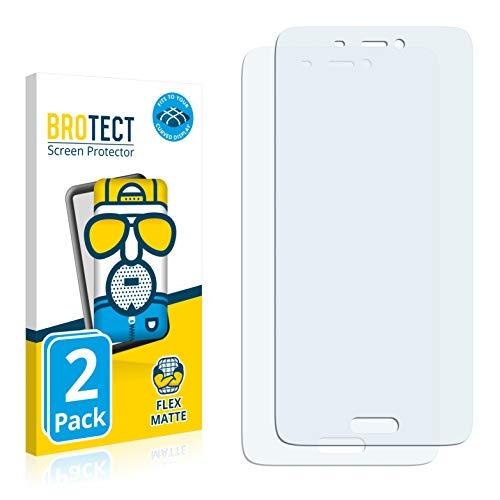 BROTECT Full-Cover Schutzfolie Matt kompatibel mit Xiaomi Mi5 Pro (2 Stück) - Full-Screen Bildschirmschutz-Folie, 3D Curved, Anti-Reflex