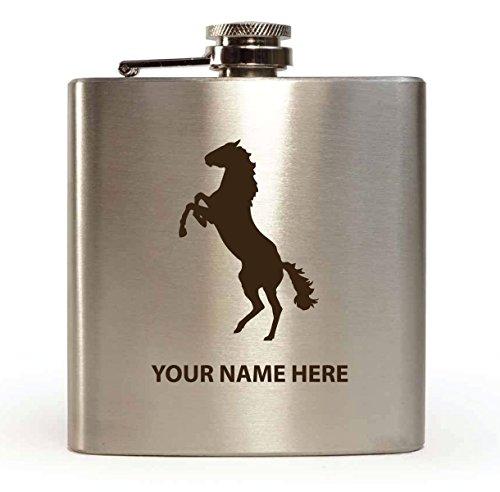Diseño de caballos–personalizado de petaca (con caja de regalo y embudo)