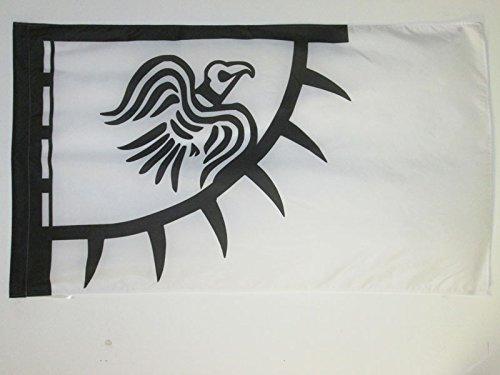 AZ FLAG Flagge Wikinger Raven 150x90cm - Raben Fahne 90 x 150 cm Scheide für Mast - flaggen Top Qualität