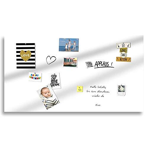 TUKA-i-AKUT Eisenfolie Beschreibbar Selbstklebend Whiteboard Folie, Nass Abwischbar, Premium-Kleber, Ferrofolie Haftgrund, 60 x 40cm, Weiß, TKD9020-white-60cm