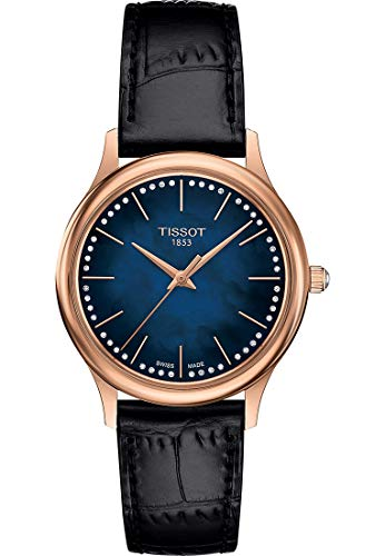 Tissot Damen-Uhren Analog Quarz One Size Leder 87695808