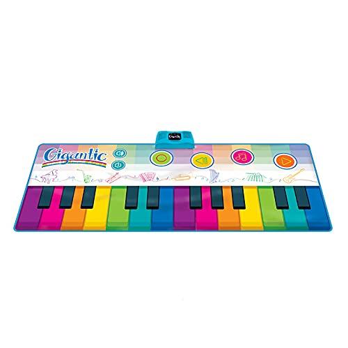 Tanzmatte Für Kinder-180 * 74Cm Regenbogen-Klavierdecke-Musikmatte-Musikalische Teppichmatte Jungen Und Mädchen Früherziehung Spielzeug 1-8 Jahre Alt Geschenk