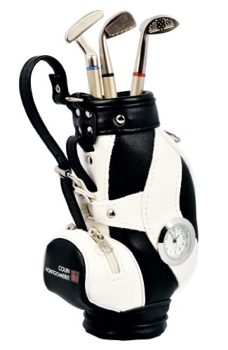 Colin Montgomerie Mini sac de golf et stylos club de golf