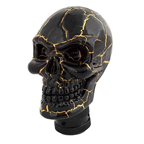 Perilla de cambio de marchas esqueleto cabeza de cráneo universal 5 6 velocidades cambio cambio cambio adaptador interior del coche ajuste personalizado pieza modificada accesorio auto negro oro